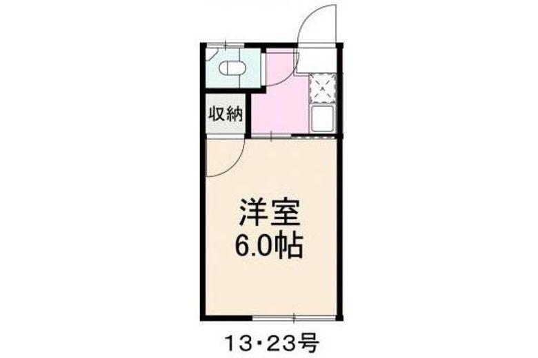 コーポ敏-23-間取り図